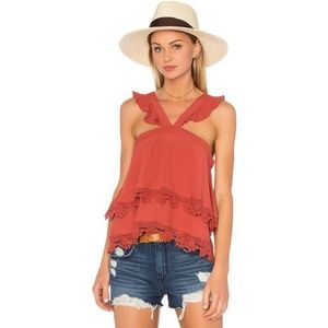 Lovers and Friends destined lace top in Rust